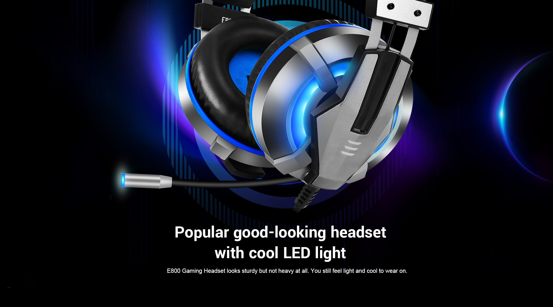 Popular Good-looking Headset With Cool LED Light