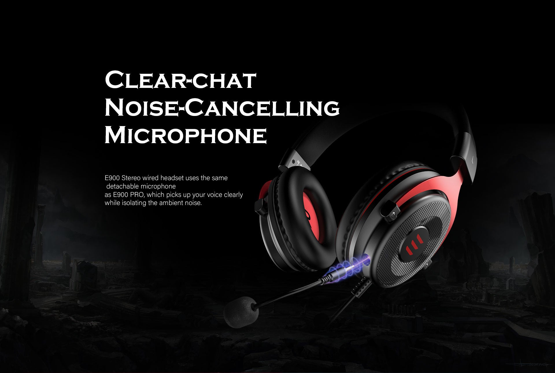 Clear-chat Noise-Cancelling Microphone