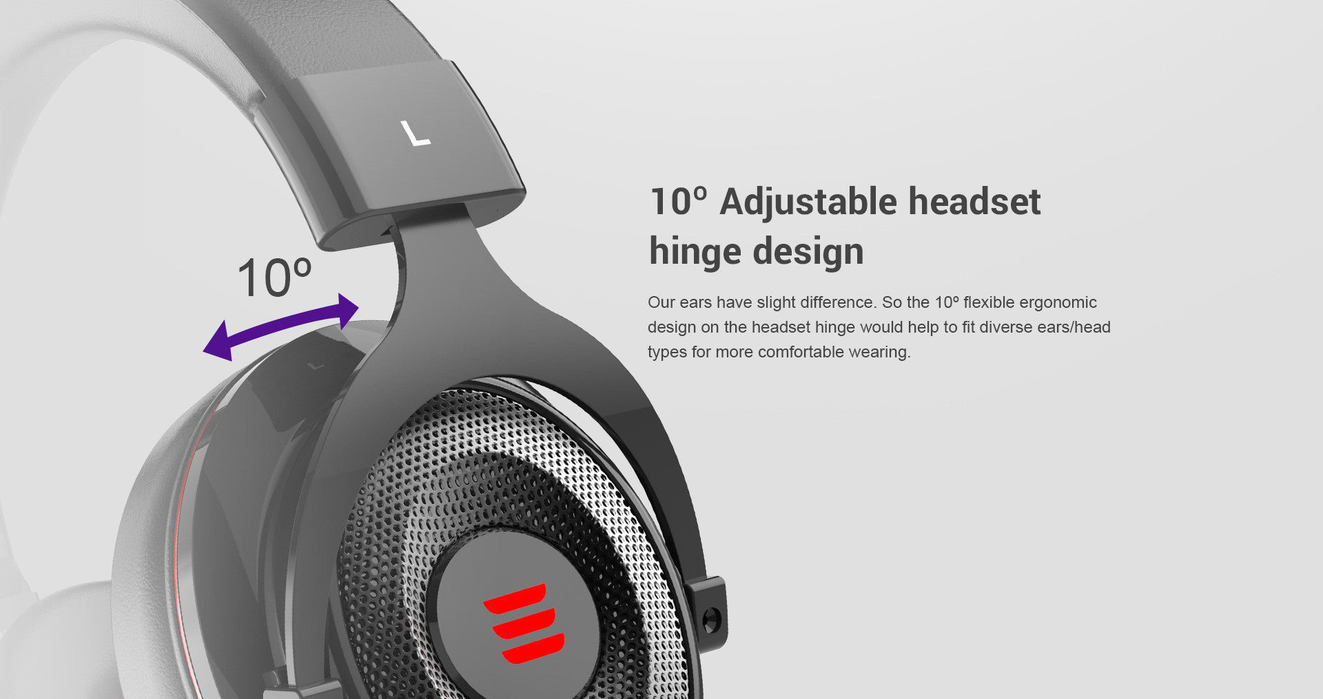 Adjustable Headset Hinge Design
