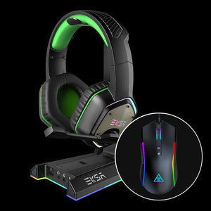 EKSA E900 Stereo Sound Wired Gaming Headset (Purple)