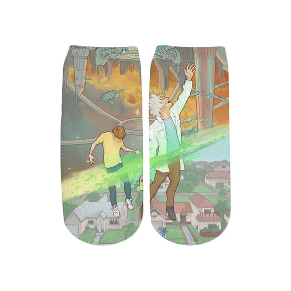Rick And Morty Crew Socks