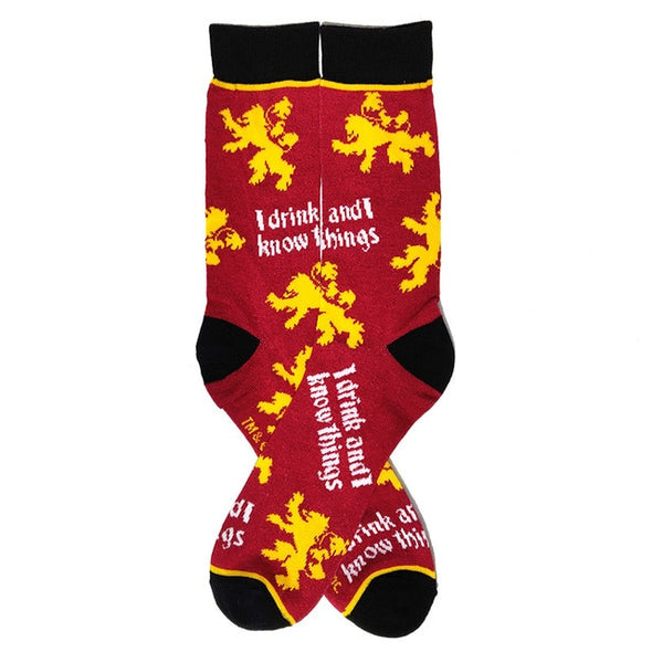 Game of Thrones - I Drink and I Know Things Socks - Socksmon