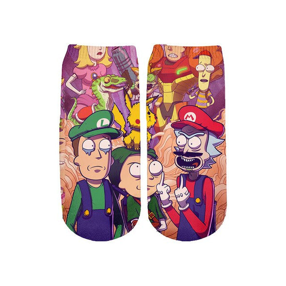 Rick And Morty Mens Socks