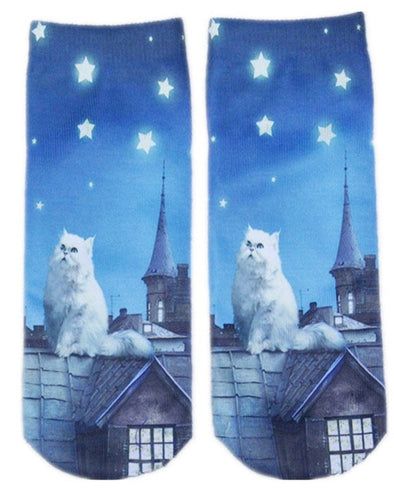 Women's Socks With Cats On Them
