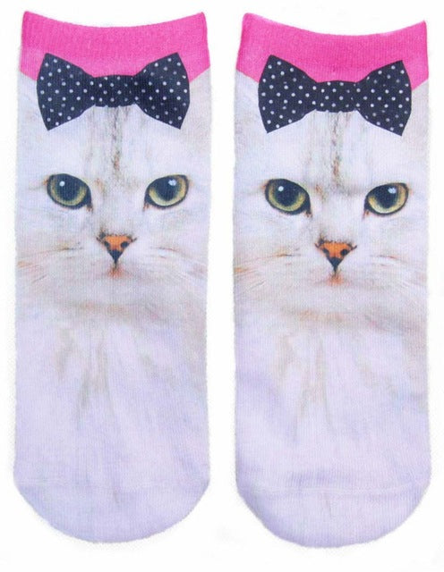 Womens Fluffy Cat Socks