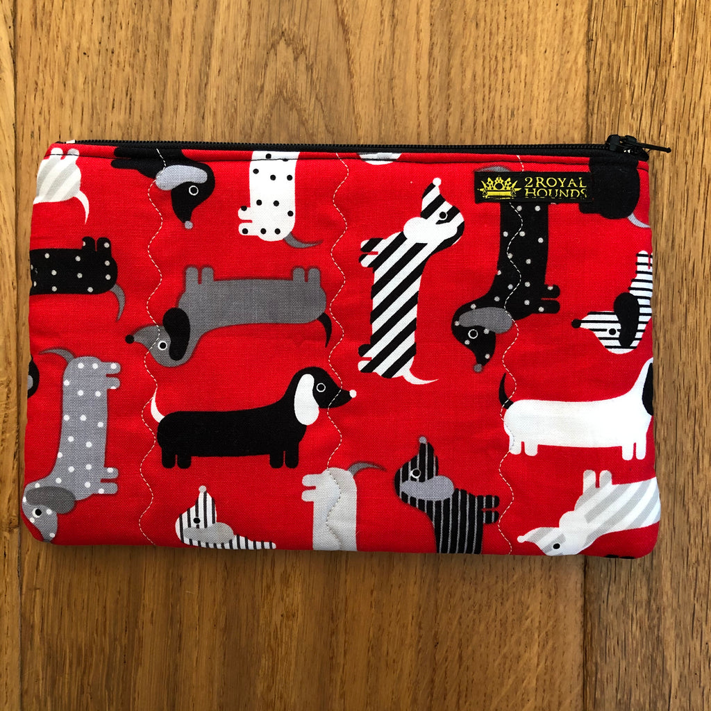 Red Dachshund Little Zipper Pouch Bag
