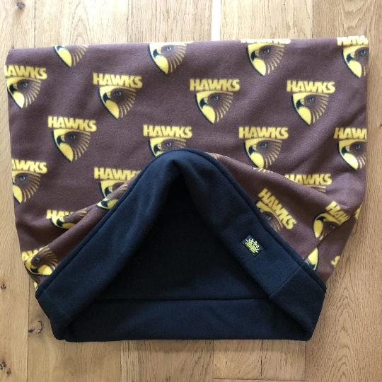 AFL Hawthorn Black Trim Snuggle Sack