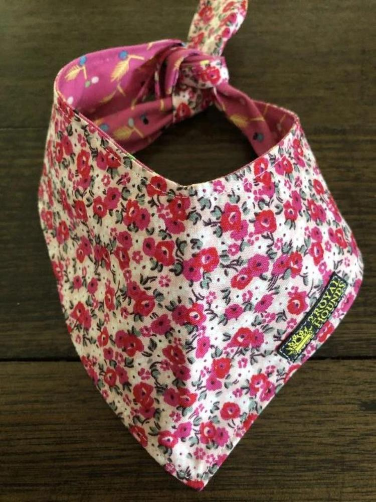 Pretty as Pink Flowers Reversible Neckerchief