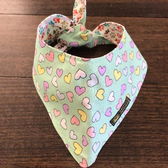 Beautiful Hearts Reversible Neckerchief