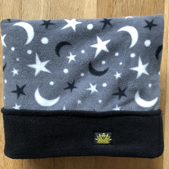 Grey Moon and Stars with Black Trim Snuggle Sack