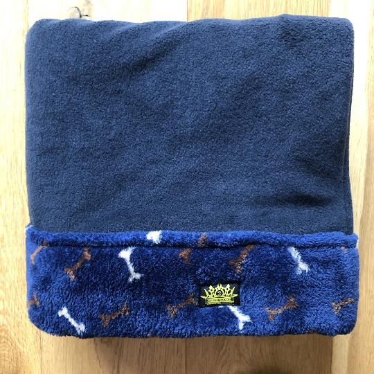 Luxury Navy Blue Softy Fleece Snuggle Sack