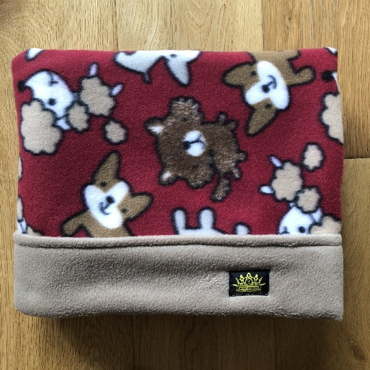 Lots of Doggies with Desert Sand Trim Snuggle Sack