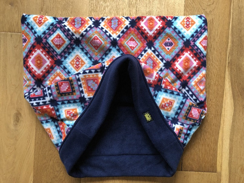 Abstract Orange with Navy Trim Snuggle Sack