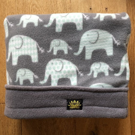 Elephant Love Grey Trim Snuggle Sack
