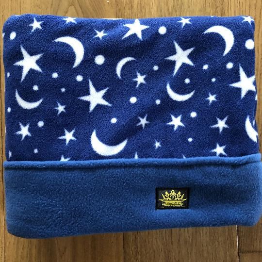 Moon and Stars with Blue Trim Snuggle Sack