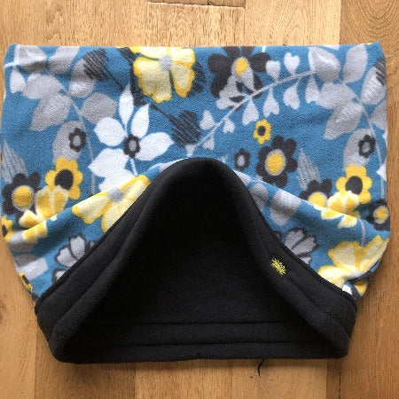 Yellow Blue Flowers with Black Trim Snuggle Sack