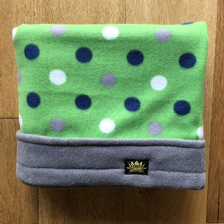 Green Dots with Grey Trim Snuggle Sack