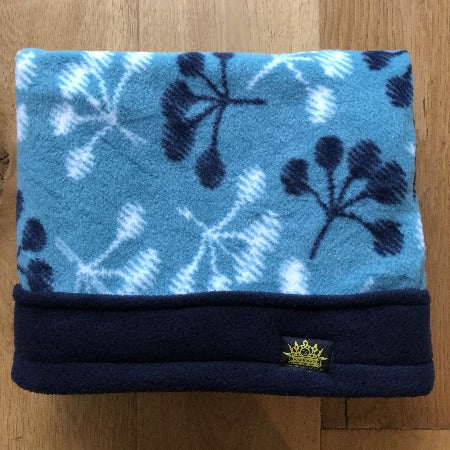 Turquoise Flowers with Navy Trim Snuggle Sack