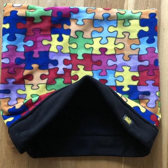 Jigsaw Puzzle with Black Trim Snuggle Sack