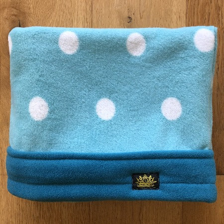 Blue Spots with Turquoise Trim Snuggle Sack