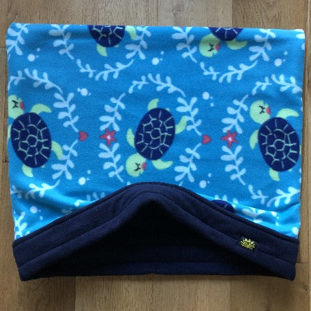 Tortoises with Navy Trim Snuggle Sack