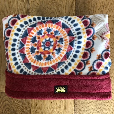 Funky Flowers with Deep Red Trim Snuggle Sack