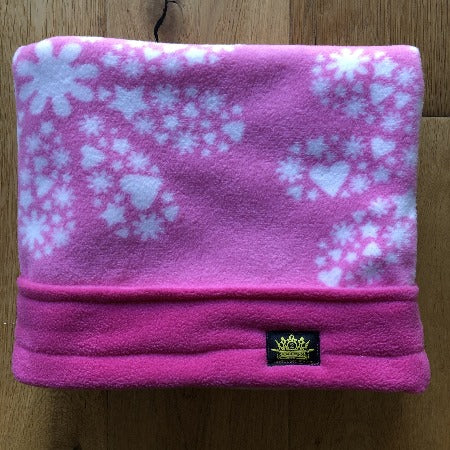 Pink Snowflakes with Pink Trim Snuggle Sack