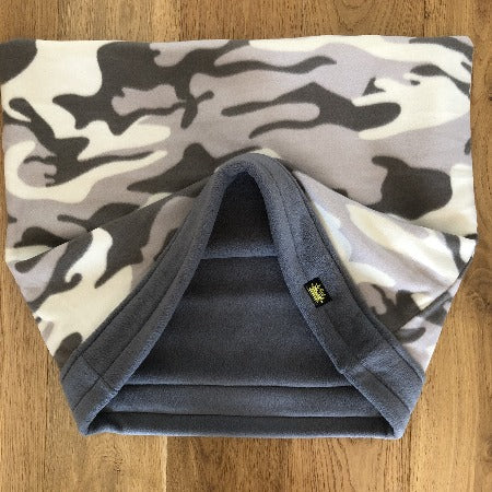 Camo Grey Trim Snuggle Sack