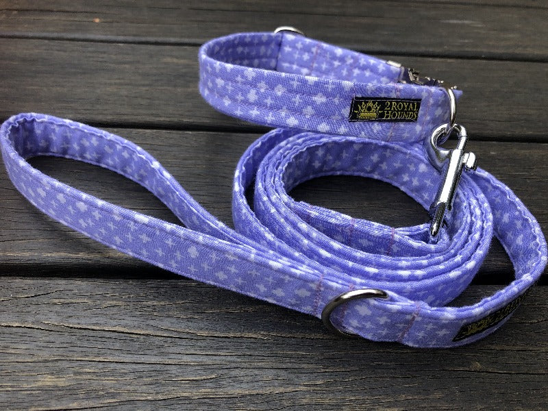 Crosses Splendor in Lilac Collar and Lead Set