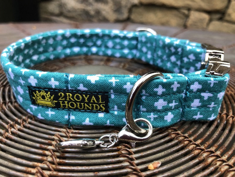 Crosses Splendor in Turquoise Collar and Lead Set