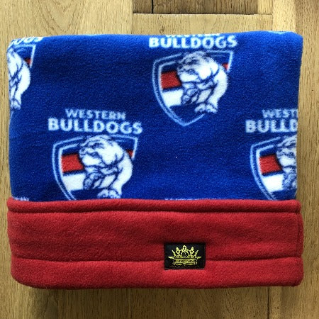 AFL Western Bulldogs with Red Trim Snuggle Sack