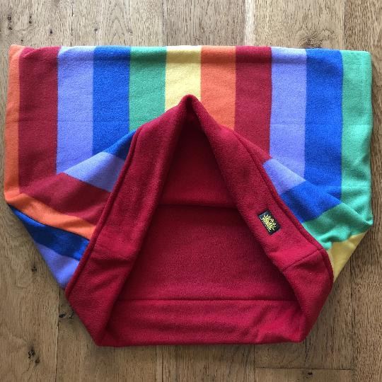 Rainbow Red with Red Trim Snuggle Sack