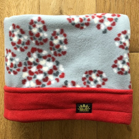 Paws of Hearts Red Trim Snuggle Sack