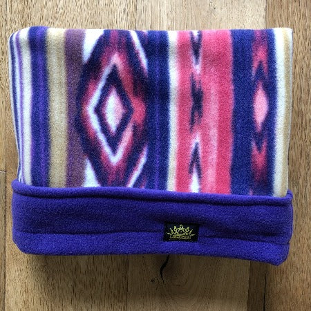 Aztec Purple Trim Snuggle Sack