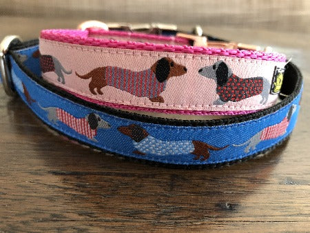 Pink Dachshund Dog Collar