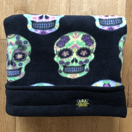 Sugar Skulls Black Trim Snuggle Sack