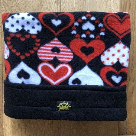 Full of Red Hearts Black Trim Snuggle Sack