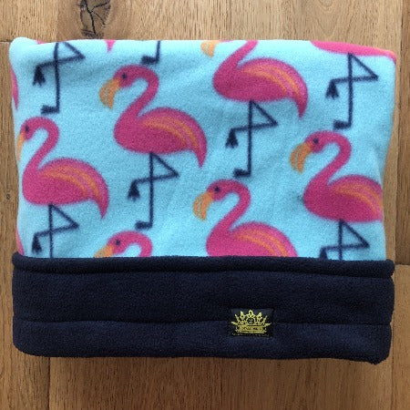 Pink Flamingo's Navy Trim Snuggle Sack