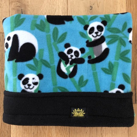 Pandas Turquoise with Black Trim Snuggle Sack
