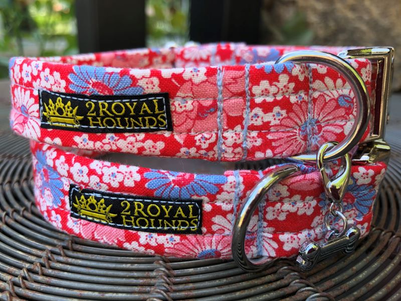 Vintage Floral Daisy Dog Collars