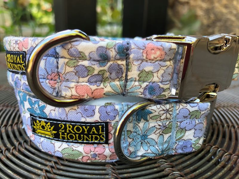 Blue Bouquet Dog Collars