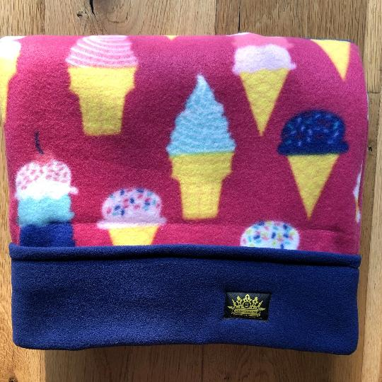 Mr Whippy Ice-creams with Navy Trim Snuggle Sack