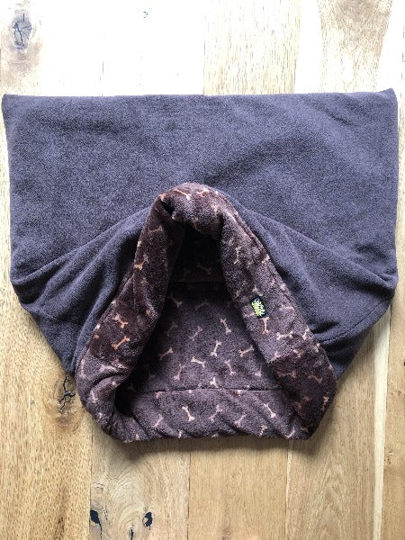 Luxury Brown Softy Fleece Snuggle Sack