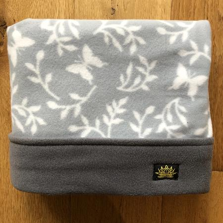 Grey Butterflies with Grey Trim Snuggle Sack