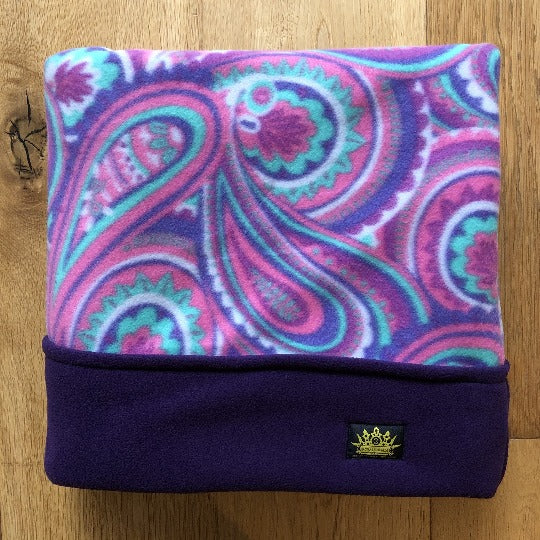 Paisley Pink with Purple Trim Snuggle Sack
