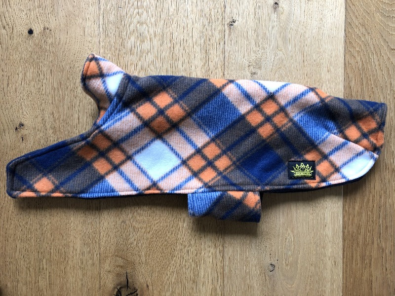 Navy and Orange Tartan Cape