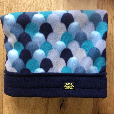 Blue Scales with Navy Trim Snuggle Sack