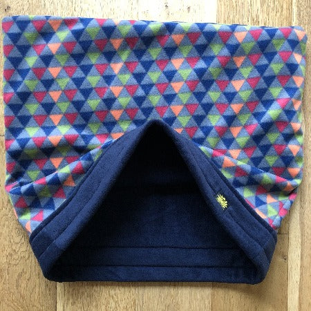 Funky Triangles with Navy Trim Snuggle Sack