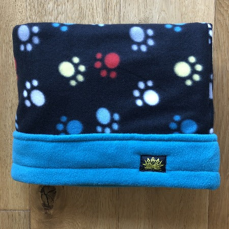 Pawtastic with Turquoise Trim Snuggle Sack