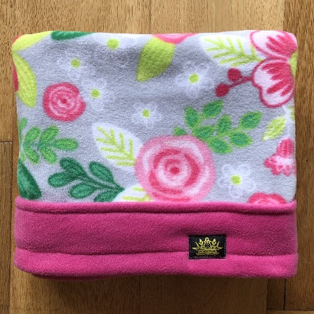 Pretty Pink Flowers Pink Trim Snuggle Sack